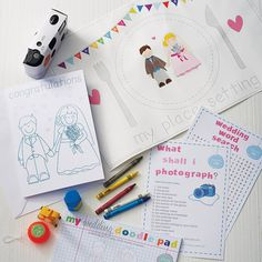 Children's Wedding Activity Box - can be personalized with Bride & Groom's name along with the child's name.