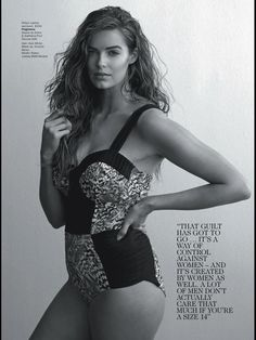 for the swimwear collection of Robyn Lawley: BOND EYE Australia. But in todays body Issue of Vogue Australia, we already have a sneak peak! Plus Size Bikini Bottoms, Women's Plus Size Swimwear, Curvy Swimwear, Swimsuits, Robyn Lawley, Australian Swimwear, Bond, Modelos Plus Size, Vogue Australia