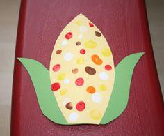 Fingerprint Indian corn.  I think I will use ink pads.