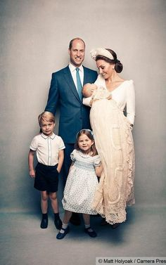 Prince Louis's christening - Prince William, Kate Middleton - Duke and Duchess of Cambridge - Prince George, Princess Charlotte