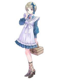 Kaena Swaya - Characters & Art - Atelier Meruru: The Apprentice of Arland - Anime Female Character Design, Character Design Inspiration, Character Concept, Character Art, 5 Anime, Anime Kawaii, Anime Art, Anime Girl Dress, Manga Girl