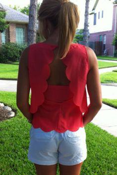 Scalloped open back top - love!