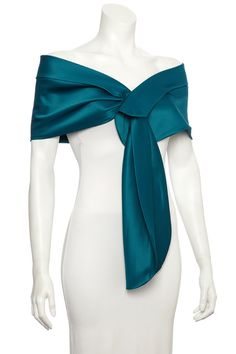 TEAL duchess satin shawl / shrug / bolero / wrap / by mycoverup, £24.99