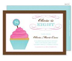 Birthday Cupcake Invitations