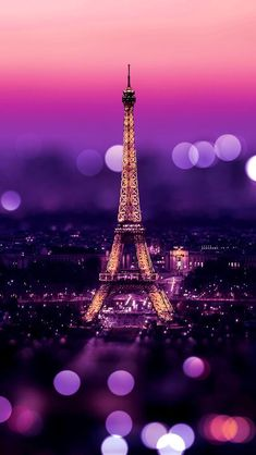 Tour Eiffel (Paris) + Bokeh + Purple + Warmth - Arnaud Hayaert - My Pin Wallpaper Iphone5, Cool Wallpaper, Mobile Wallpaper, Wallpaper Backgrounds, Travel Wallpaper, Nature Wallpaper, Bokeh Wallpaper, Iphone Wallpaper Eiffel Tower, Screen Wallpaper