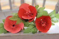 Paper Hibiscus ~ Coral Roygbivs@etsy.com #paperflowers