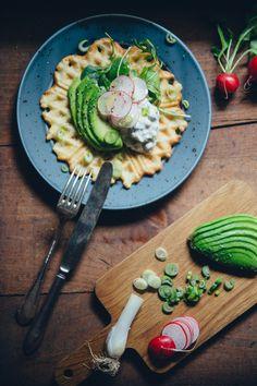 Vegan Swedish Gubbröra on Savory Waffles   Cashew Kitchen