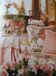 """romantic English cottage style - maybe a bit too """"busy"""" for you, but so romantic and feminine!"""