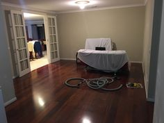 Preparing the room