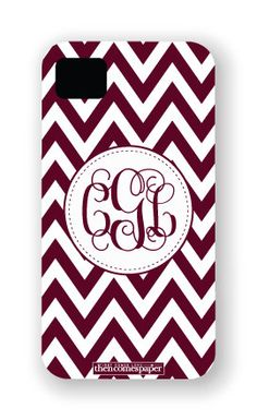 Texas AM Aggies Personalized iPhone Case, Cover, Shell - Chevron Monogram Aggie Game, Aggie Football, Football Season, Chevron Monogram, Circle Monogram, College Fun, College Station, College Life, Personalized Phone Cases