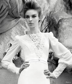 Berta Wedding Dresses 2013 | Wedding Inspirasi | long sleeve gown with beaded cuff detailing.