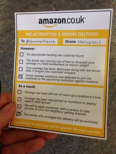 Amazon drone failure, as imagined by this isn't happiness™ - photo caption contains external link