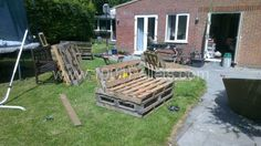 XpzTS My pallets garden set in pallet garden with Pallets Outdoor Lounge Garden Furniture Pallet Garden Furniture, Pallets Garden, Outdoor Furniture Sets, Outdoor Decor, Outdoor Lounge, Pallet Gardening, Rattan Furniture, Furniture Sale, Outdoor Ideas
