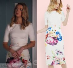 """Jane the Virgin: Season 3 Episode 20 Petra's Floral Buckle Dress 