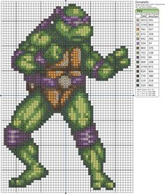 Teenage Mutant Ninja Turtles Counted Cross Stitch Patterns Set of 5 Including...See Description for details*