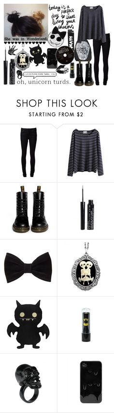 """Don't ask why!"" by merri-broskef6969 ❤ liked on Polyvore featuring Naked & Famous, WithChic, Dr. Martens, FingerPrint Jewellry, Forever 21, Couture by Lolita and Adia Kibur"