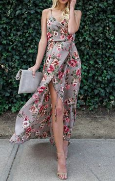 Best Prom Dresses 2019 - Fashion, Home decorating Maxi Dress With Slit, Maxi Wrap Dress, Floral Maxi Dress, Dress Up, Best Prom Dresses, Club Dresses, Summer Dresses, Dress Outfits, Casual Dresses