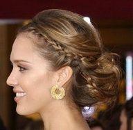 For a bridesmaid hair style