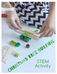 Christmas STEM Activity for preschool, kindergarten, grade, grade and grade students. This Christmas tree building is a … Christmas Activities For Kids, Science Activities For Kids, Stem Science, Preschool Christmas, Winter Activities, Stem Activities, Kids Christmas, Christmas Crafts, Crafts For Kids