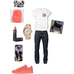Untitled #37 by sneakerhead1500 on Polyvore featuring polyvore, fashion, style, Hollister Co., Vans, Bulova, Naked & Famous and Lipstick Queen