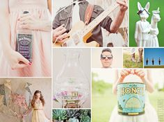 pastel wedding inspiration board