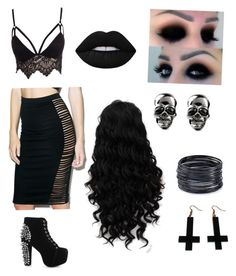 """""""Courtney Love's minions From Save Rock And Rool"""" by musicalmegan84 on Polyvore featuring REHAB, Club L, Jeffrey Campbell, Lime Crime, ABS by Allen Schwartz and Chicnova Fashion"""