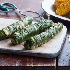 Using the hasselback technique—cutting partially into a whole fruit or vegetable every 1/2 inch or so—gives you an easy way to sneak lots of flavor into this healthy zucchini recipe.