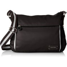 Calvin Klein Athleisure Ripstop Cire Messenger ($128) ❤ liked on Polyvore featuring bags, messenger bags, calvin klein messenger bag, distressed messenger bag, calvin klein bags and calvin klein
