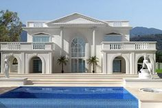 beautiful white house by the beach - Google Search