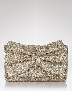 Betsy Johnson Gold Sequin Clutch