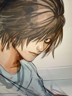 Death Note Fanart, L Death Note, Starco, Elle Lawliet, Bakugou Manga, Fandoms, Going Insane, Emo Boys, Son Goku