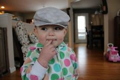 Fat Quarter Friday: Paper Boy Cap for Toddler or Young Child | Awaiting Ada @Alyson Patrash