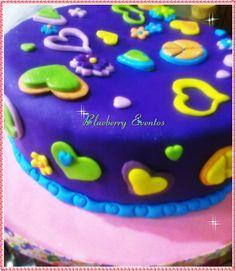 Torta Peace & Love Blueberry Eventos