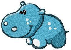 Tiny hippo machine embroidery design. Machine embroidery design. www.embroideres.com
