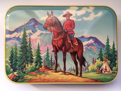 Vintage Mountie tin, by Thorne's Premier Toffee, Leeds, England.