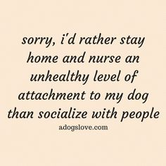 """An """"unhealthy attachment"""" to your dog? Nope, don't think so. It is healthy and being with dogs (or any pet) is better than being with people. I Love Dogs, Puppy Love, Diy Pet, Me Quotes, Funny Quotes, It's Funny, Qoutes, Hilarious, Dog Rules"""