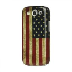 Black Friday Vintage American Flag Hard Case for Samsung Galaxy S3/III I9300 from Generic