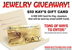 ► ► Enter #Win #Jewelry #Giveaway #Contest Kay Jewelers $50 Gift Card! Good Luck! ► ►