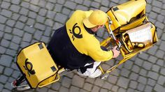 In Germany, yellow bicycles are synonymous with mail-delivery or courier delivery men.  www.parcelw.com