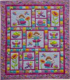 Pixie Girl - by Kids Quilts - Quilt Pattern - $20.00 : Fabric Patch, Patchwork Quilting fabrics, Moda fabric, Quilt Supplies, Patterns