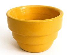 BAUER  <> Rare Round Cactus Pot #111 <> Yellow Glaze <> 1930's <> Excellent #JABauerPottery
