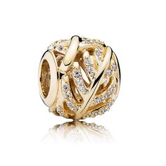 Black Friday PANDORA 14K Light as a Feather with Clear CZ Charm