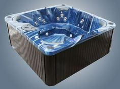 Multiple Gold Award Winning Hot Tubs For Sale UK at Hot Tub Suppliers. Balboa approved & BISHTA affiliated offering the best hot tub service, sales & support. Hot Tub Service, Tubs For Sale, Wooden Steps, Sale Uk, Apollo, Sink, Bathtub, Luxury, Blue