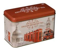 Sip a hot cup of English Breakfast Tea, made from pure  Ceylon teas packed in Sri Lanka and imported to the UK.  It will wake you up in the morning and soothe you in the  afternoon. Reuse the collectable, embossed, vintage-style  tin later to store more  tea, or whatever you'd like to keep snug and dry. 40 tea  bags.