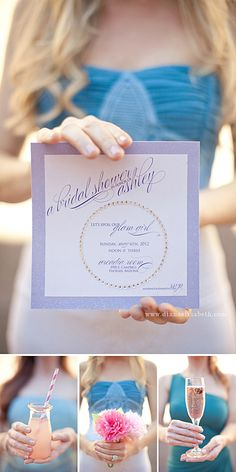 invite by page and mason  Hair and makeup: Mariana Marie