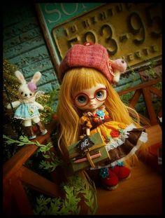 シルエット■~文学少女とウサギ先生~■プチブライスのお洋服 - ヤフオク!