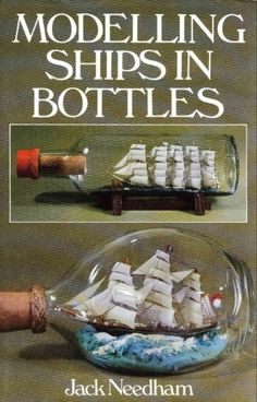 Modelling ships in bottles Boat In A Bottle, Ship In Bottle, Build Your Own Boat, Ghost Ship, Handmade Books, Model Ships, Library Books, Home Crafts, Book Art