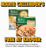 Free Marie Callenders Pot Pies At Kroger and Affiliate Stores Stacking Coins Saving Money SCSM