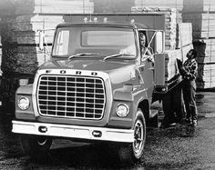 1982 - Covering a similar 24,000- to 27,500-lb GVW range were the big-rig-styled LN-Series medium-duty Ford trucks. From the front bumper to the back of the cab, they were about seven inches shorter than their F-Series counterparts.