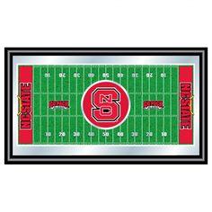 Trademark Global North Carolina State University Football Field Framed Mirror - LRG1500FF-NCS